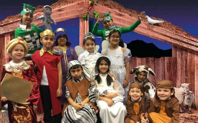 Sedgley Park Community Primary School has been rehearsing their production 'Christmas with the Aliens'