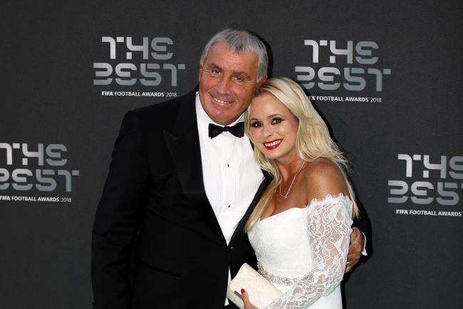 Peter Shilton pictured with his wife Steph in 2018