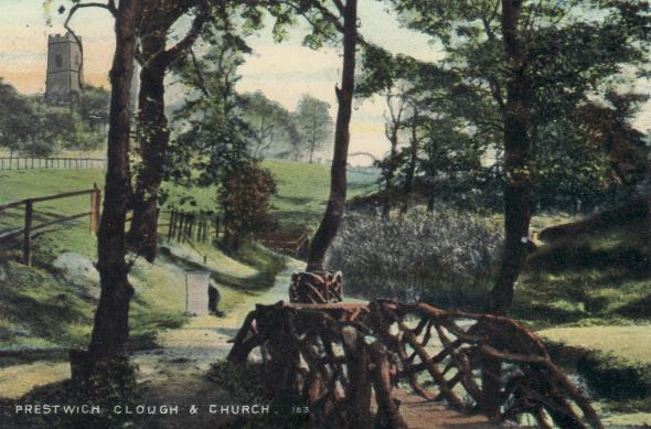 'Sylvan' view of the Clough in 1908