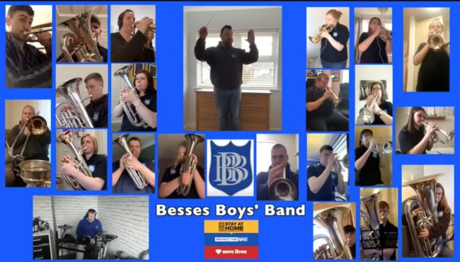 Besses Boys' Band social distancing video performance during coronavirus outbreak