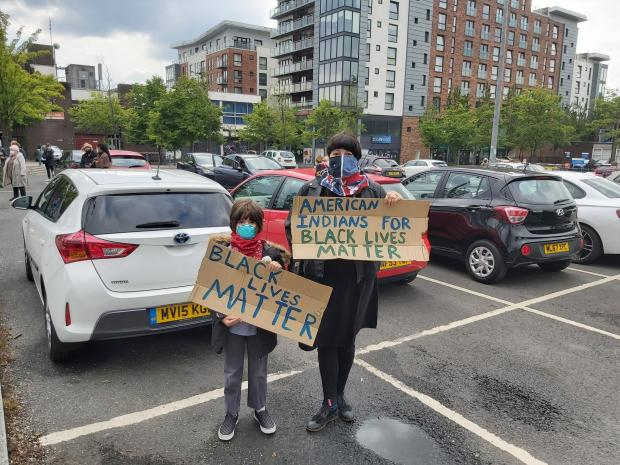 Prestwich and Whitefield Guide: Black Lives Matters supporters attended protest at the Longfield Centre, Prestwich.