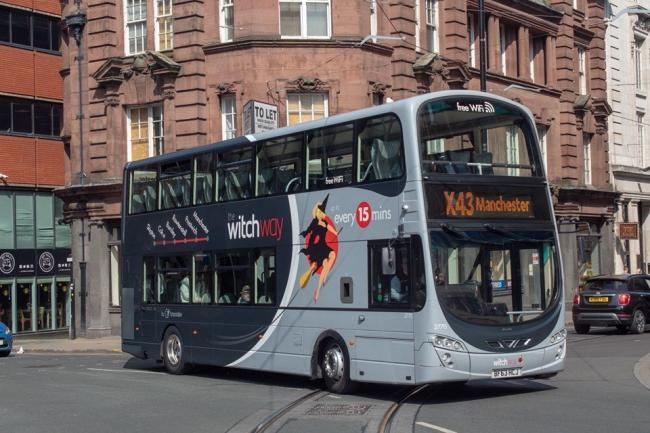 A Witchway bus in Manchester.