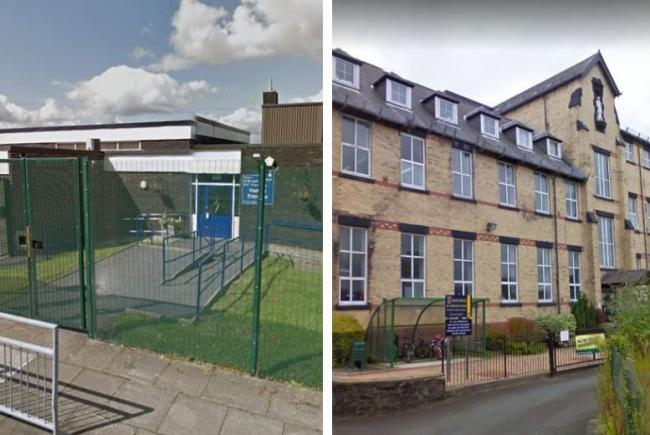 St Bernadette's RC Primary School in Whitefield and Holly Mount RC Primary School in Greenmount. Photos: Google Maps