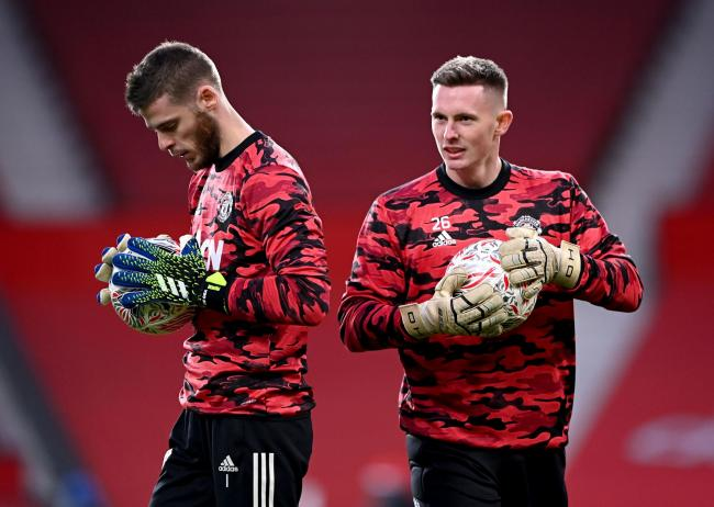 Dean Henderson, right, and David de Gea (photo: PA)