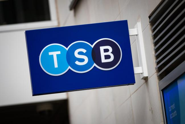 A TSB bank on Cheapside, London. The High street bank has said it will cut around 900 jobs as part of plans to close 164 of its high street bank branches. PA Photo. Picture date: Wednesday September 30, 2020. See PA story CITY TSB. Photo credit should