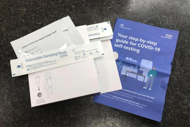NHS Test and Trace Covid-19 self-testing kits (Zoe Linkson/PA)