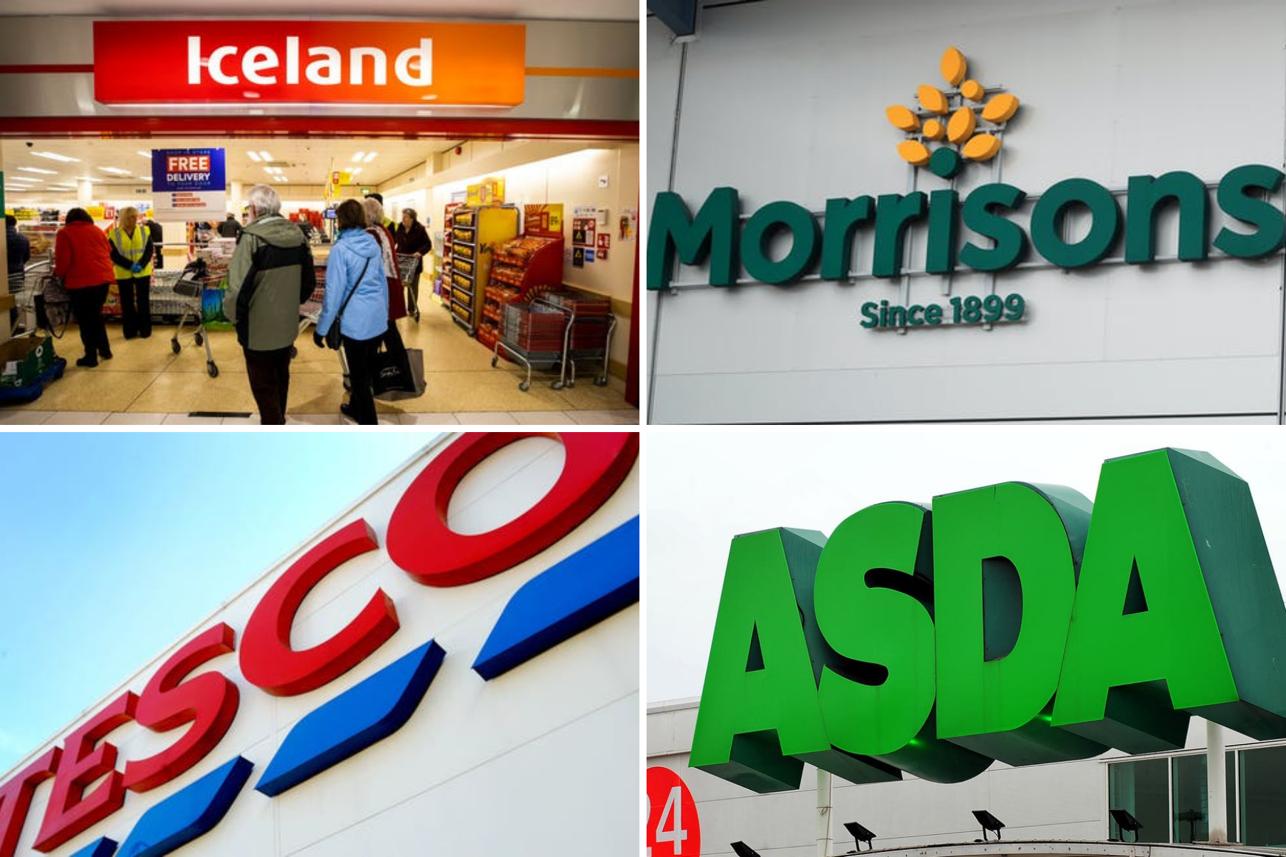 Tesco, Iceland and Morrisons among supermarkets issuing urgent product recalls