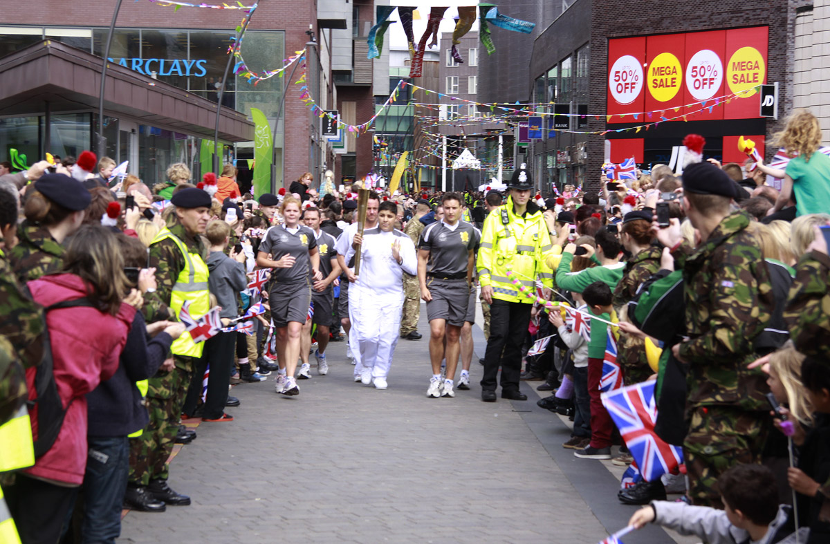 Thousands of Olympic fans enjoyed torch relay