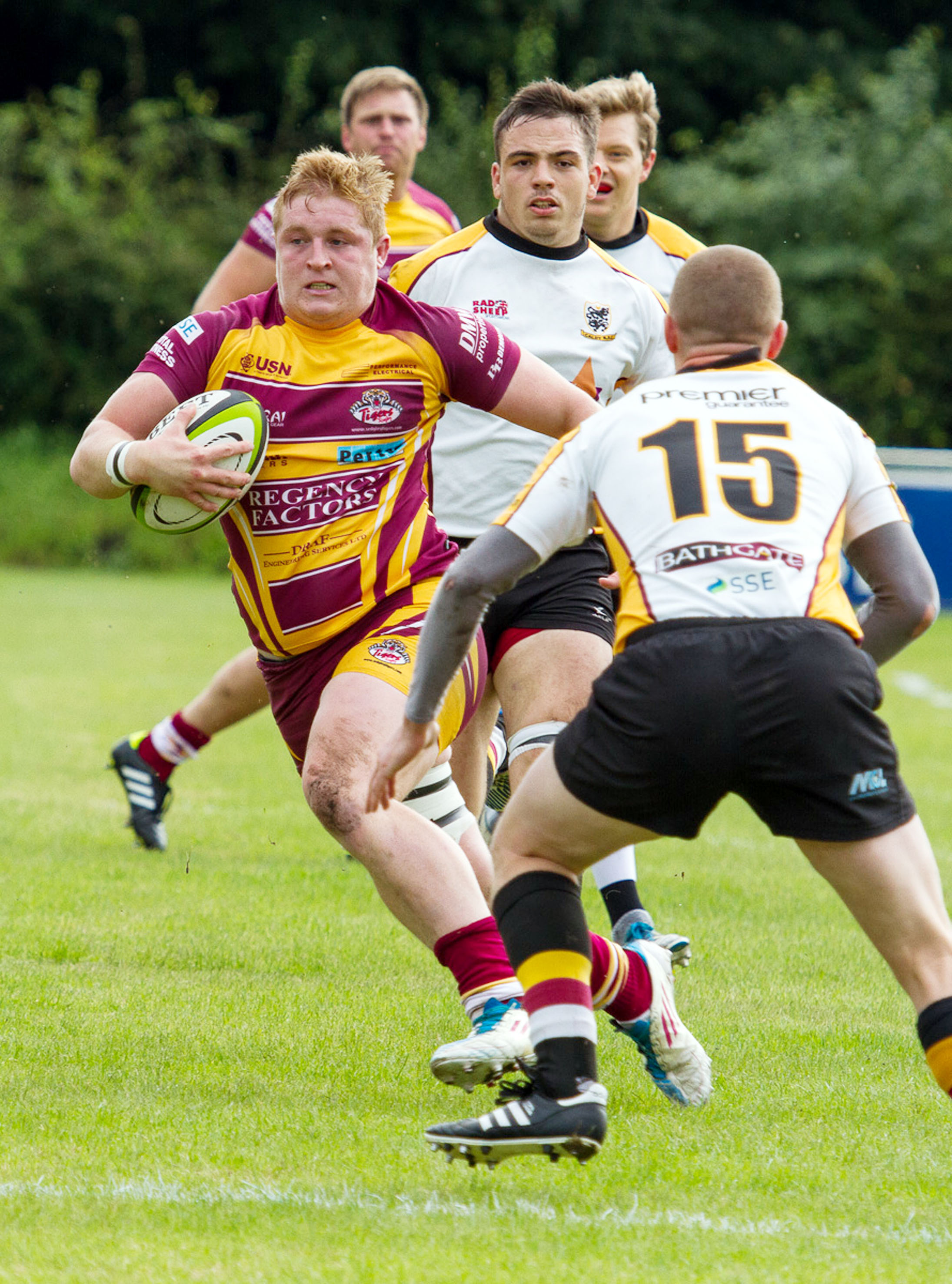 Johnny Matthews was among the try scorers again for Sedgley Park