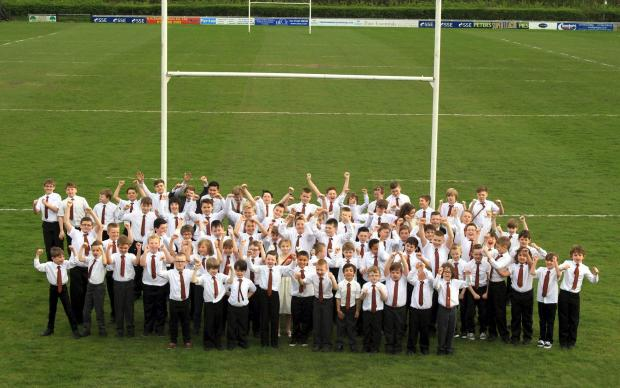 Sedgley Park youngsters wearing their new club ties