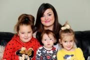 Kimberley Bowker from Whitefield is taking on 'Stoptober' this October for her three children. Kimberley is pictured with her three children Madison 6, Gabriella 3, and Antonia.1.