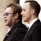 Prestwich and Whitefield Guide: Sir Elton John (left) and David Furnish tied the knot in a civil partnership ceremony in 2005