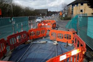 Traffic delays to continue with Hollins Brow shut into next week