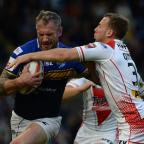 Prestwich and Whitefield Guide: Jamie Peacock, left, scored the try of the match as Leeds beat St Helens to reach the Challenge Cup final