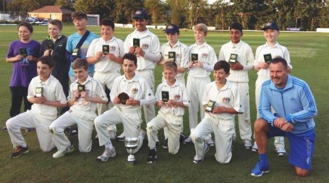 Prestwich Under-13s are celebrating a double triumph.They won the league cup final against an unbeaten Denton side, and followed this up with victory over Woodbank in the play-off final.Denton had set a target of 128 from their allotted 20 overs, which Pr