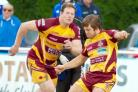 Steve Collins kicked five penalties in Sedgley Tigers 15-13 victory at Tynedale, with Ben Black, who was sent off, watching on