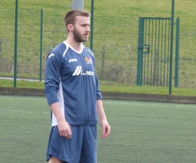 Andy Davies scored the winner for Prestwich in a 3-2 win at home to Bolton Wyresdale