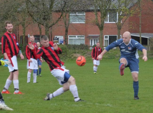 Richard Steadman rounded off the scoring for Prestwich FC in their 6-2 win at Farnworth Town
