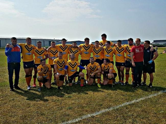 The Bury Broncos team that won 40-10 at Blackpool Scorpions on Saturday