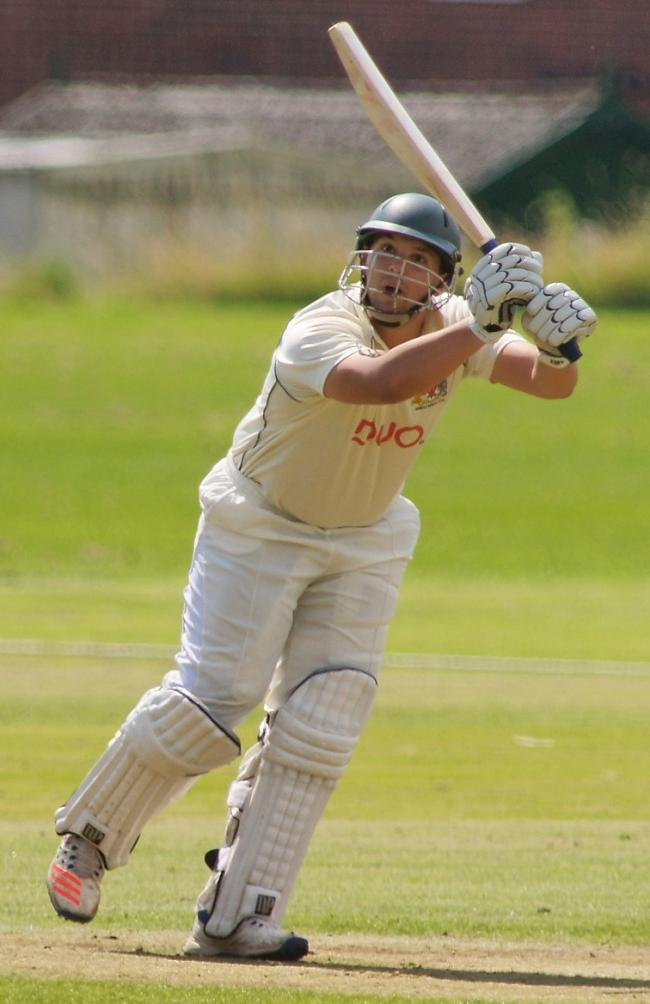 Ryan Stanbury on his way to 64 in Prestwich's 108-run win at Bury