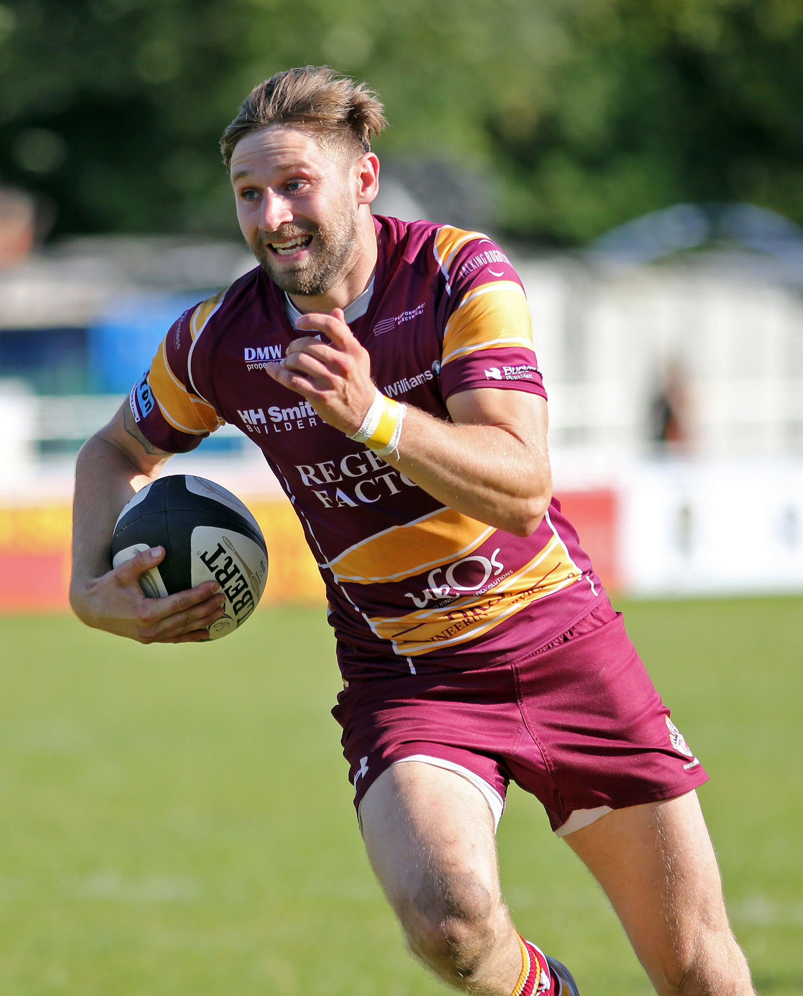 FIRST TRY: Andy Riley opened the scoring for Sedgley Tigers at Leicester Lions