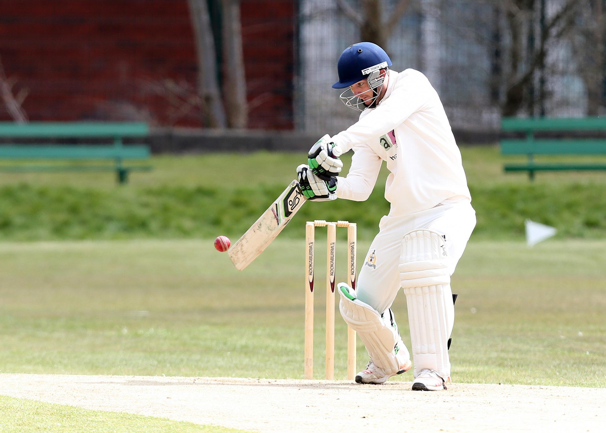 Andries Gous, who starred for Prestwich in their opening-day win at Glossop, playing for Lancashire League side East Lancs. Pic: Kippax