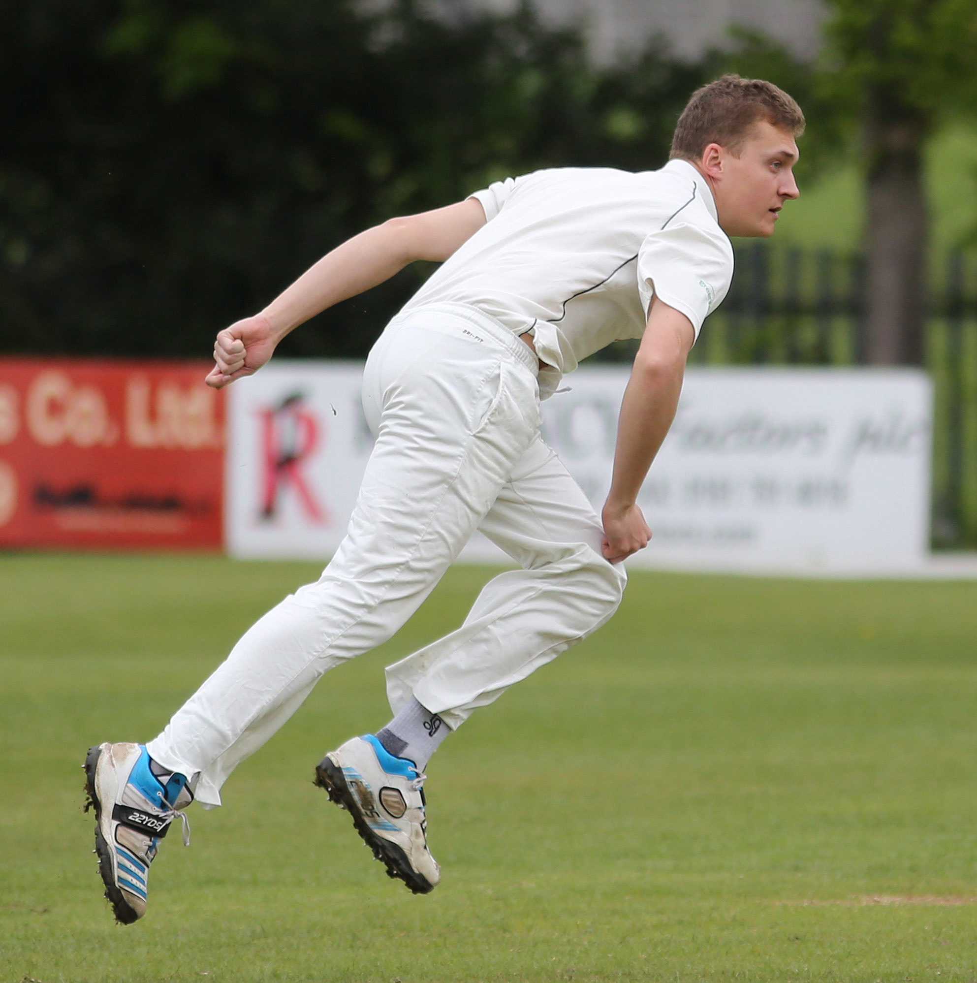 BAT'S THE WAY: Sam Holden's ankle injury means he is out of Prestwich's bowling attack
