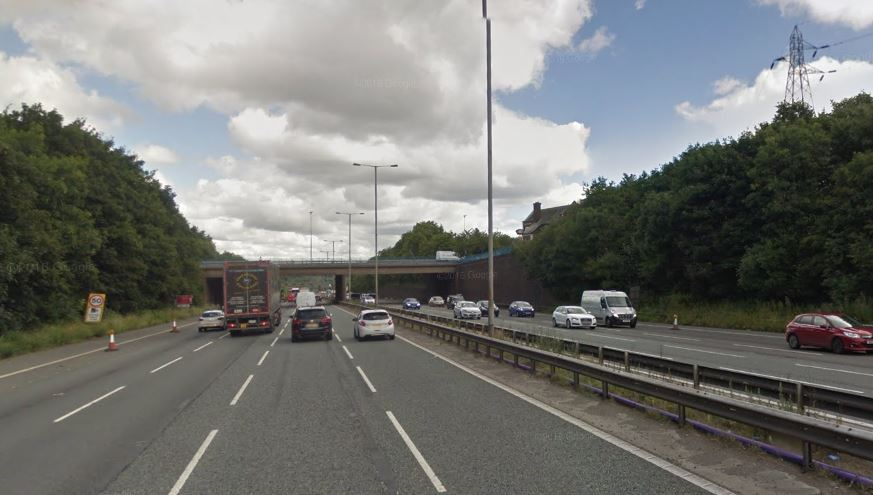 DELAYS: A breakdown on the M60 is causing problems. Picture, Google Maps