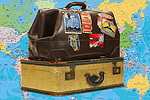 Prestwich and Whitefield Guide: Suitcases with Map