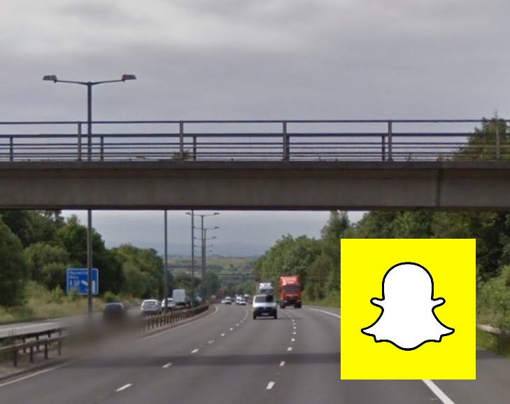 WARNING: Youths have been seen hanging off bridges as part of a new Snapchat craze