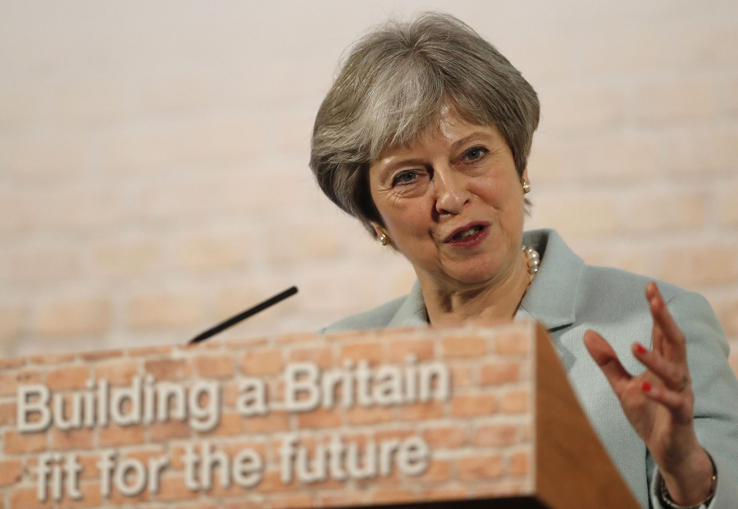 POLICY: Prime Minister Theresa May during her speech on housing. Picture: Frank Augustein/PA Wire