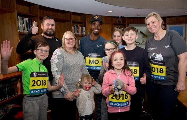 Mo Farah with the family