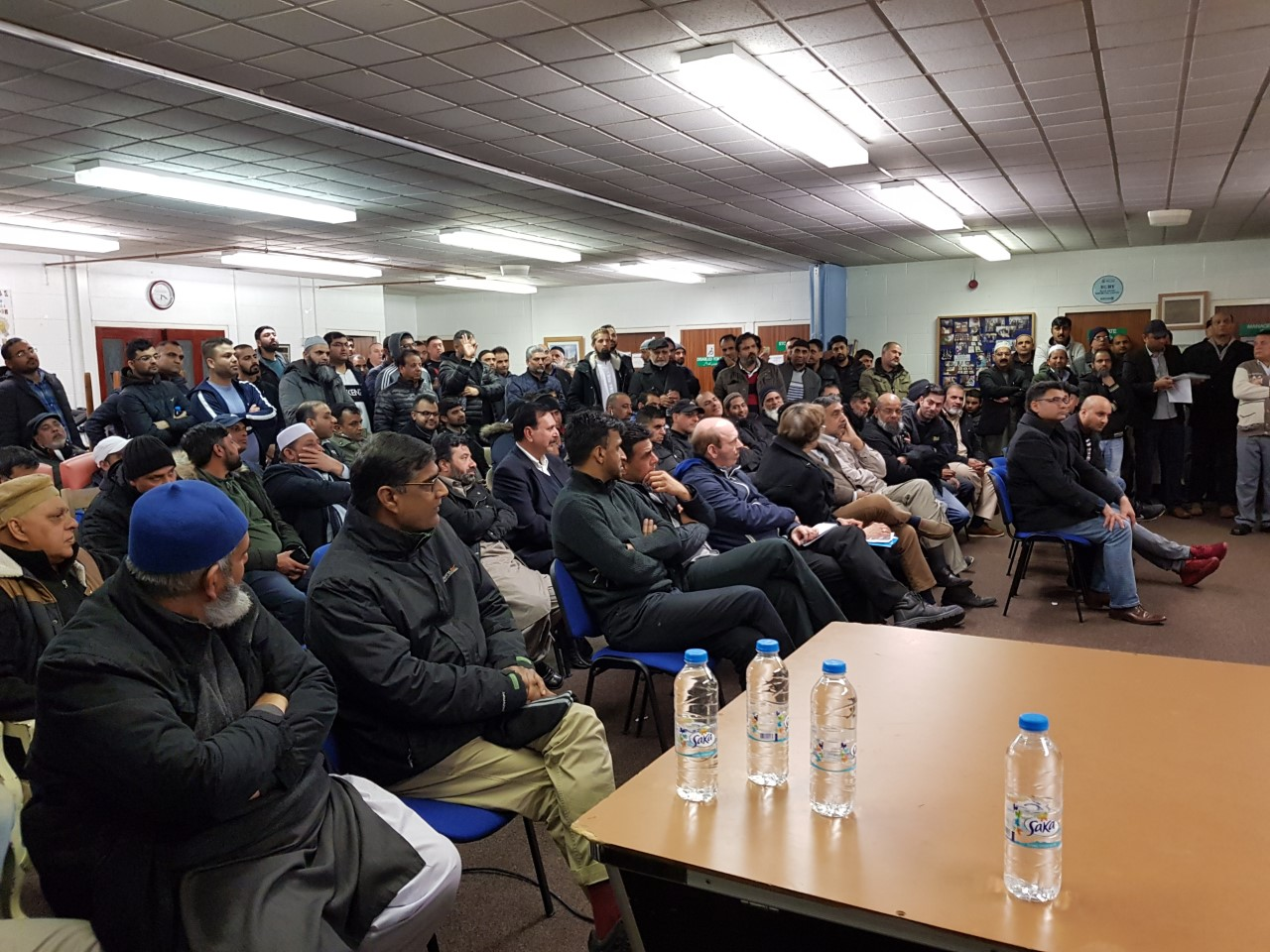 Taxi drivers from across the town turned out to the meeting at Jinnah Day Care Centre, in Alfred Street