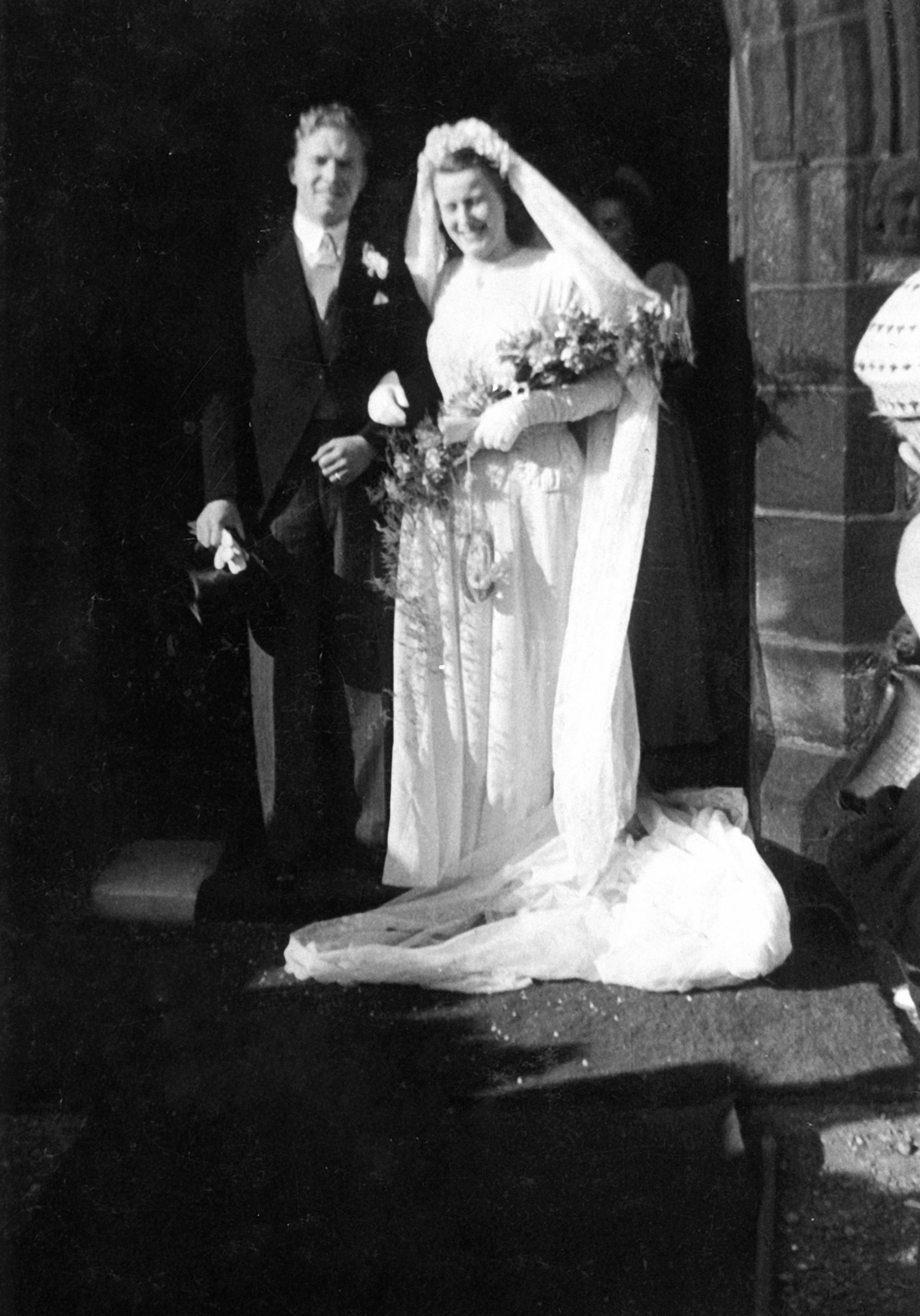 Jim and Jean Latimer on their wedding day in 1948