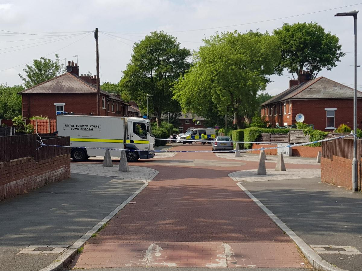 Bomb disposal officers have returned to Victoria Avenue in Whitefield