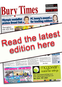 Bury Times E Edition Front Cover