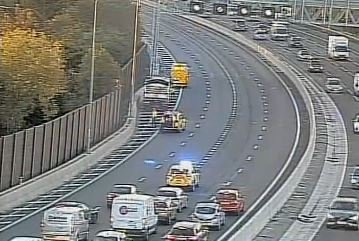 Scene of the crash on the M60