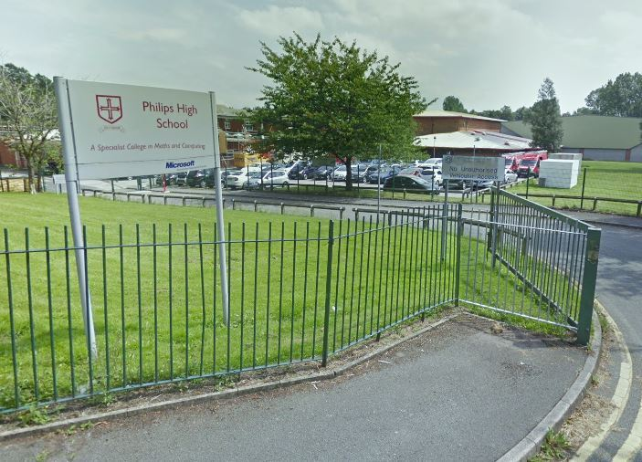 WARNING: Philips High School, Whitefield. Picture, Google Maps.