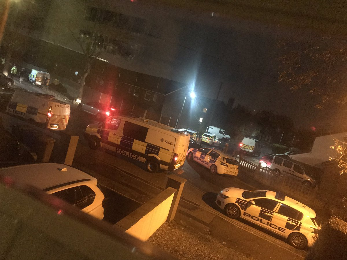 RESPONSE: Eight police vehicles were called to Dunkirk Road, Whitefield, after a fight broke out