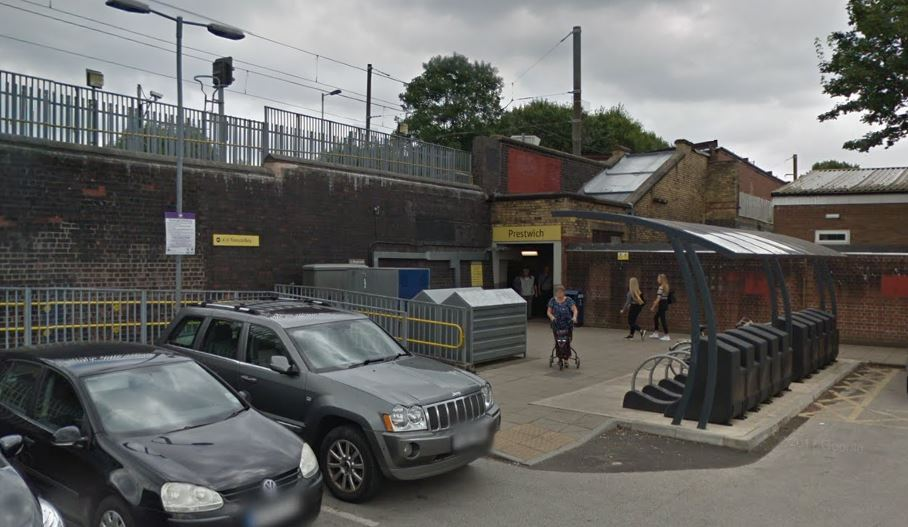 Prestwich Metrolink Station, Rectory Lane, Prestwich. Picture: Google Maps