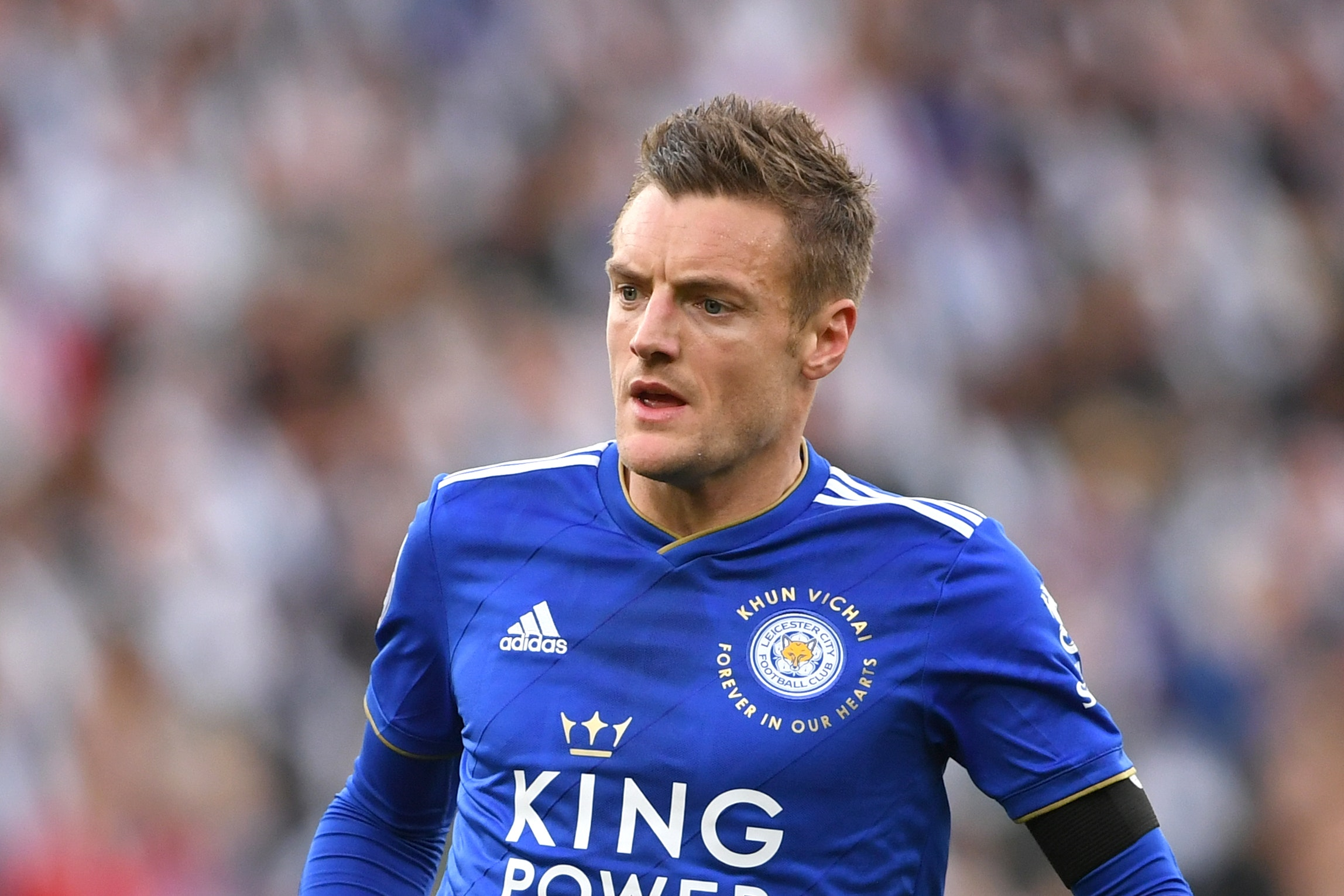 Leicester's Jamie Vardy is out of Saturday's game with Tottenham
