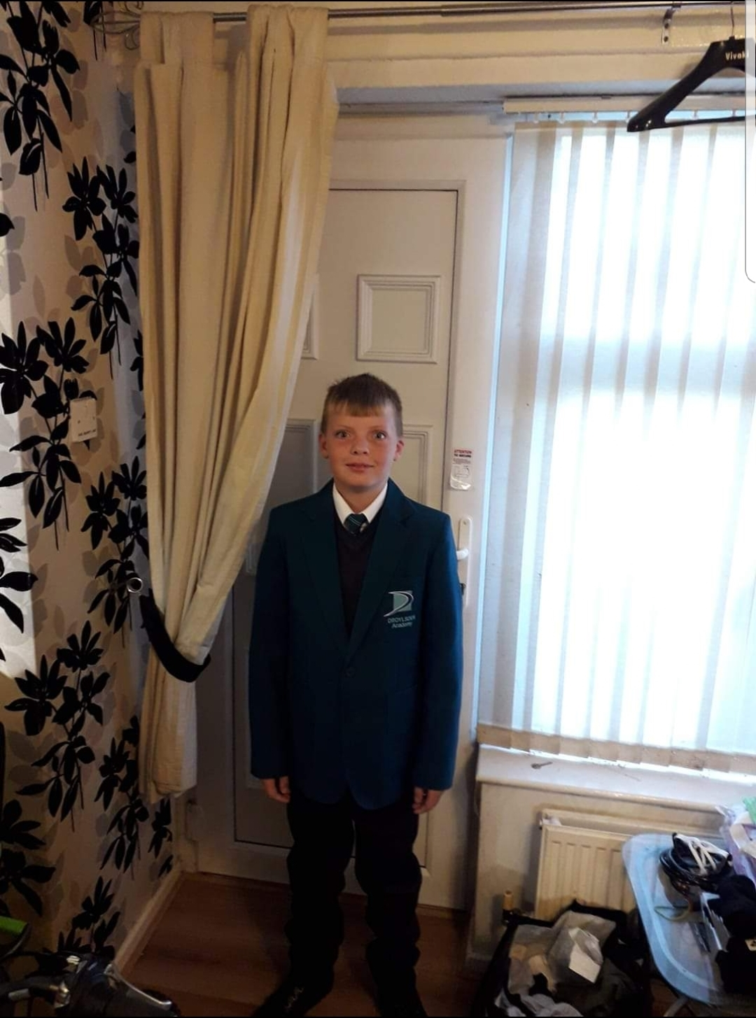 Taylor Schofield on his first day at Droylsden Academy in September last year