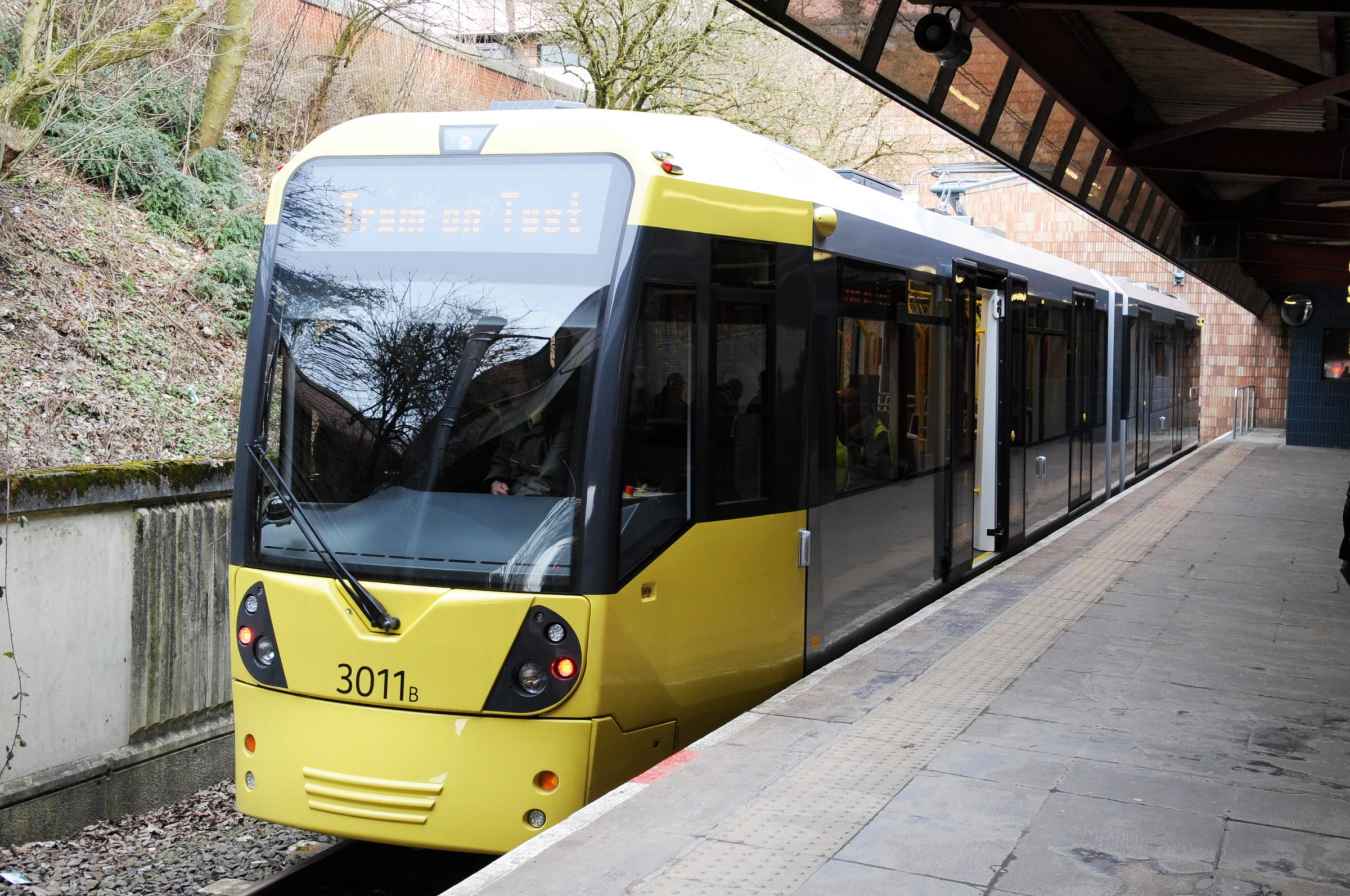 Metrolink tram at Bury.