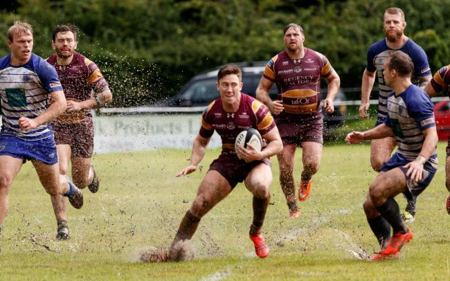 FIRST TRY: Sedgley Park's Callum McShane got the ball rolling against Stourbridge