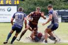 BACK WITH A BANG: Sedgley's Hallam Chapman scored at Fylde after recently returning from a broken leg