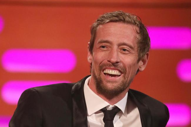 Peter Crouch filming The Graham Norton Show